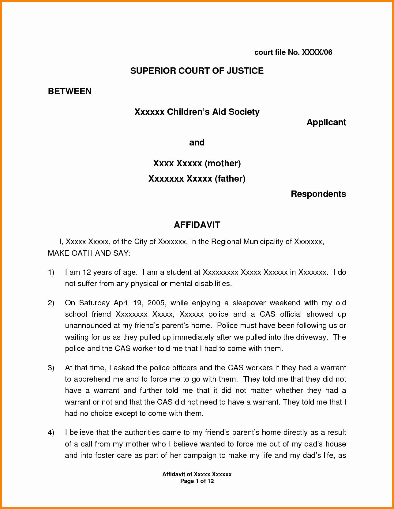 Good Title for Immigration Essay Fresh 11 Example Of Affidavit Letter for Immigration