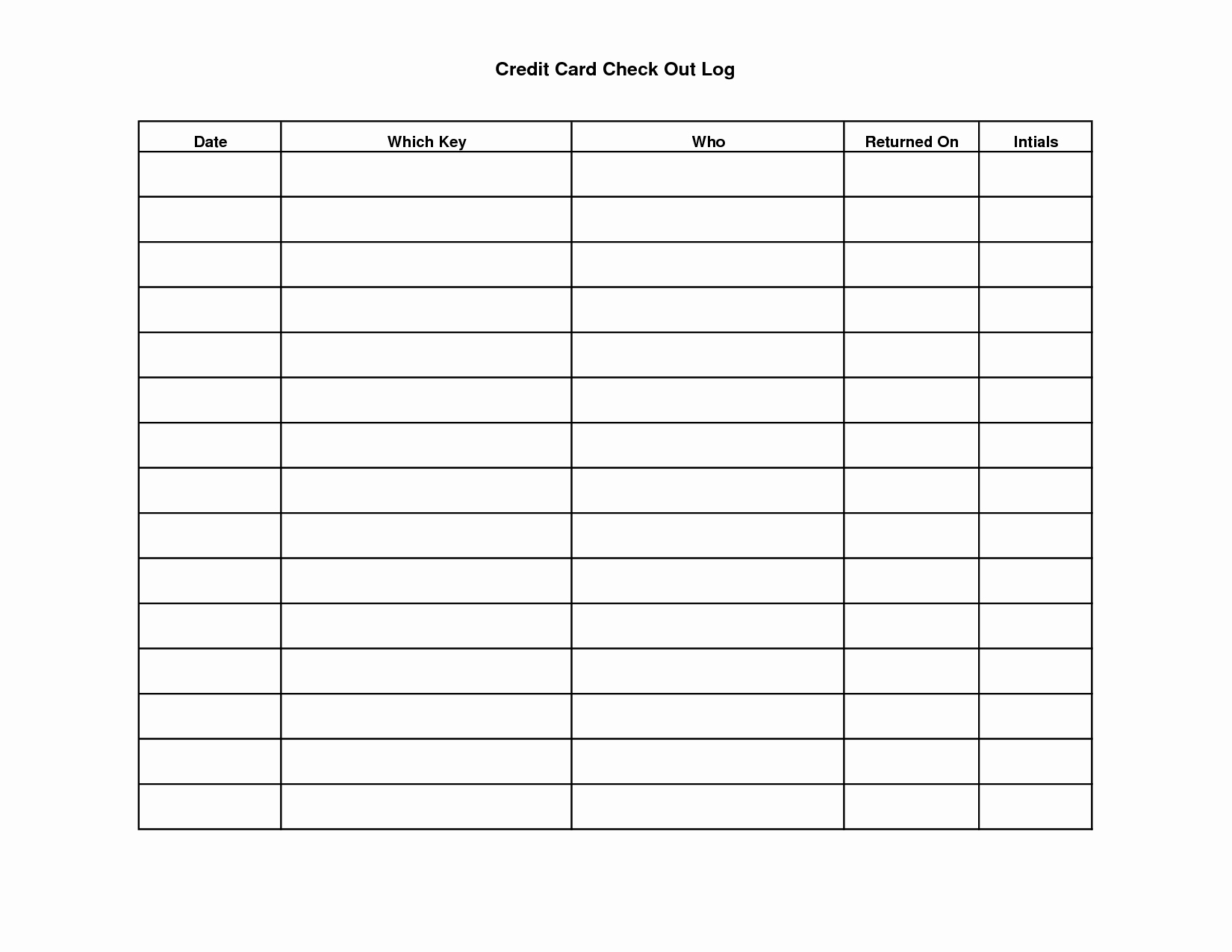 Google Docs Check Register Inspirational Key Sign Out Sheet Template