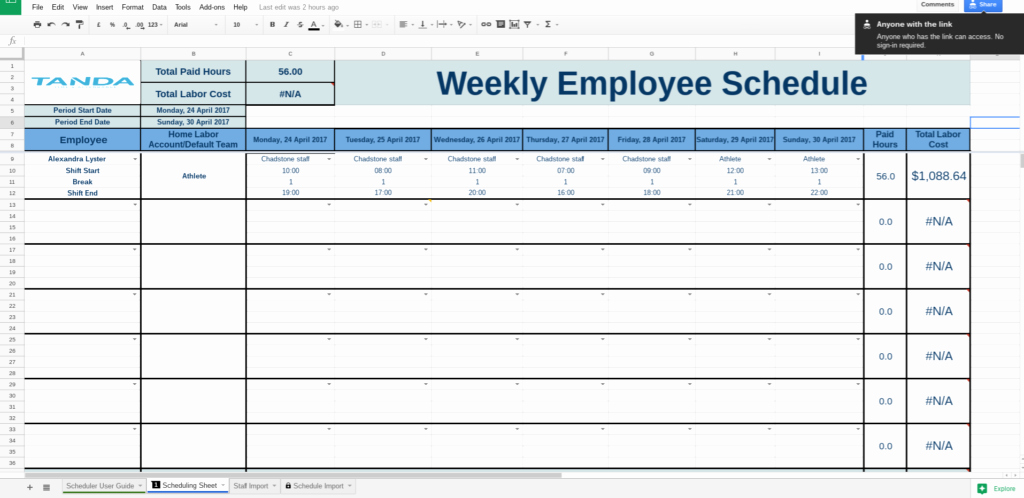 Google Docs Itinerary Template Fresh Employee Schedule Template Google Docs