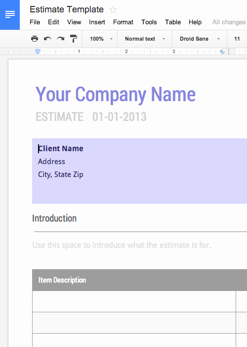Google Docs Quote Template Elegant Free Invoice & Timesheet Templates Cashboard