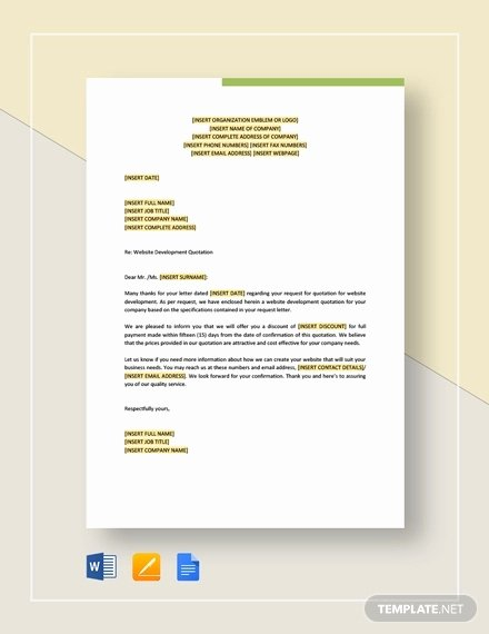 Google Docs Quote Template Unique 10 Website Quotation Templates Pdf Word Google Docs
