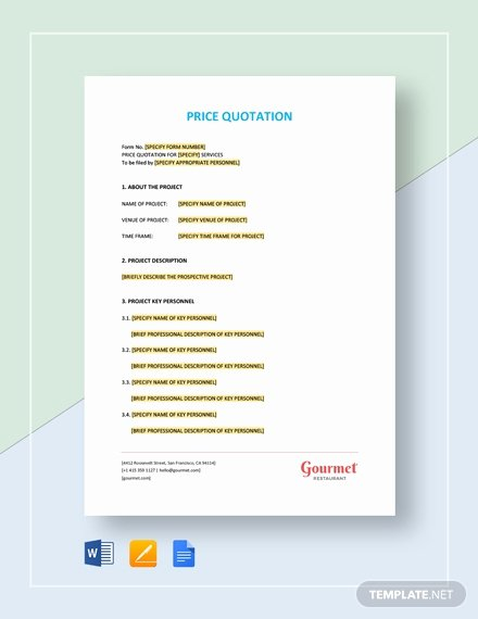 Google Docs Quote Template Unique Maintenance Quote Template Download 69 Quotations In