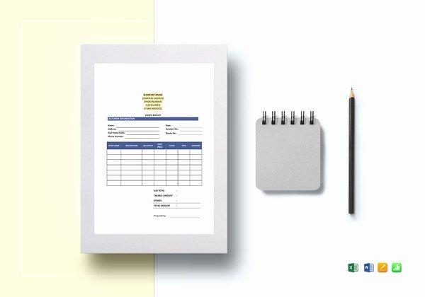 Google Docs Receipt Template Elegant Excel Work order Template 13 Free Excel Document