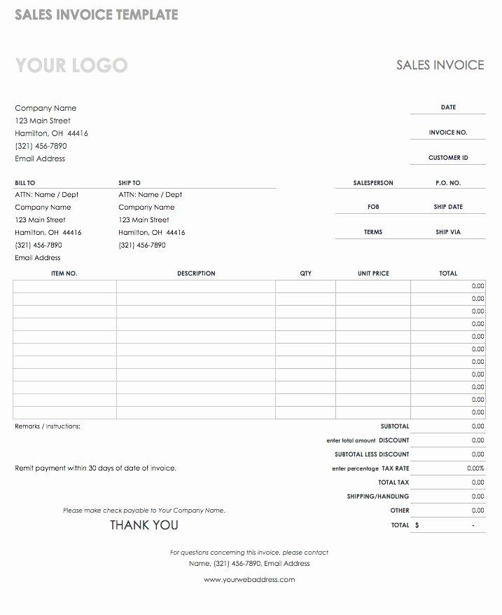 Google Sheet Invoice Template Beautiful 55 Free Invoice Templates