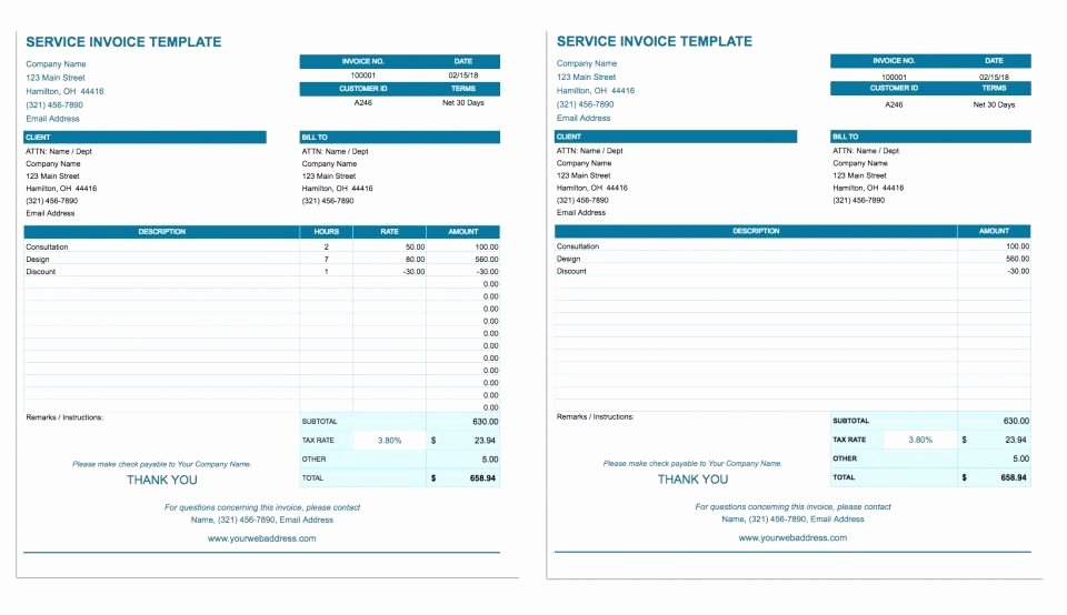Google Sheet Invoice Template Best Of Google Docs Template Invoice Five Things You Should Know