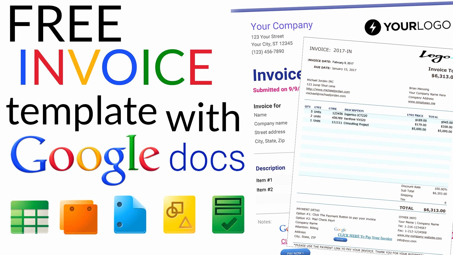 Google Sheet Invoice Template New Free Invoice Templates with Google Docs