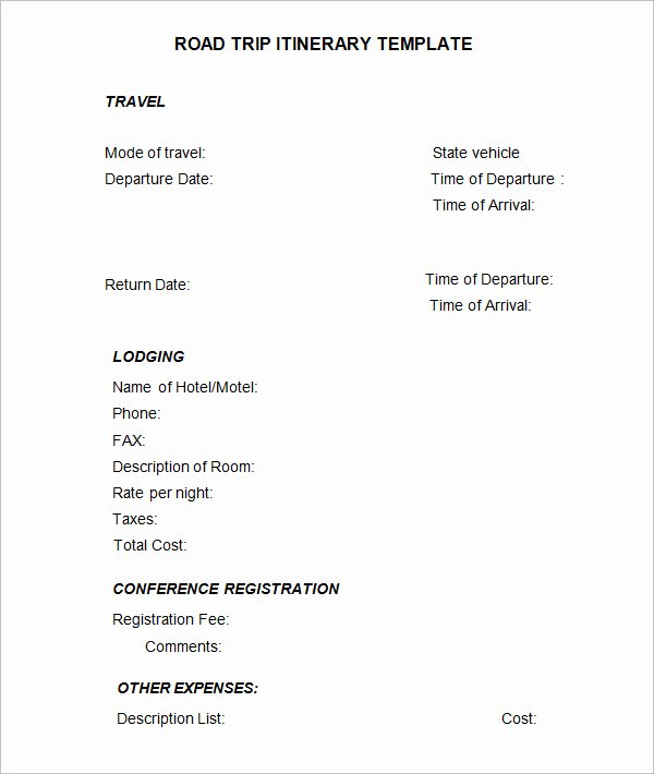 Google Sheets Travel Itinerary Template Unique 4 Sample Road Trip Itinerary Templates Doc Pdf