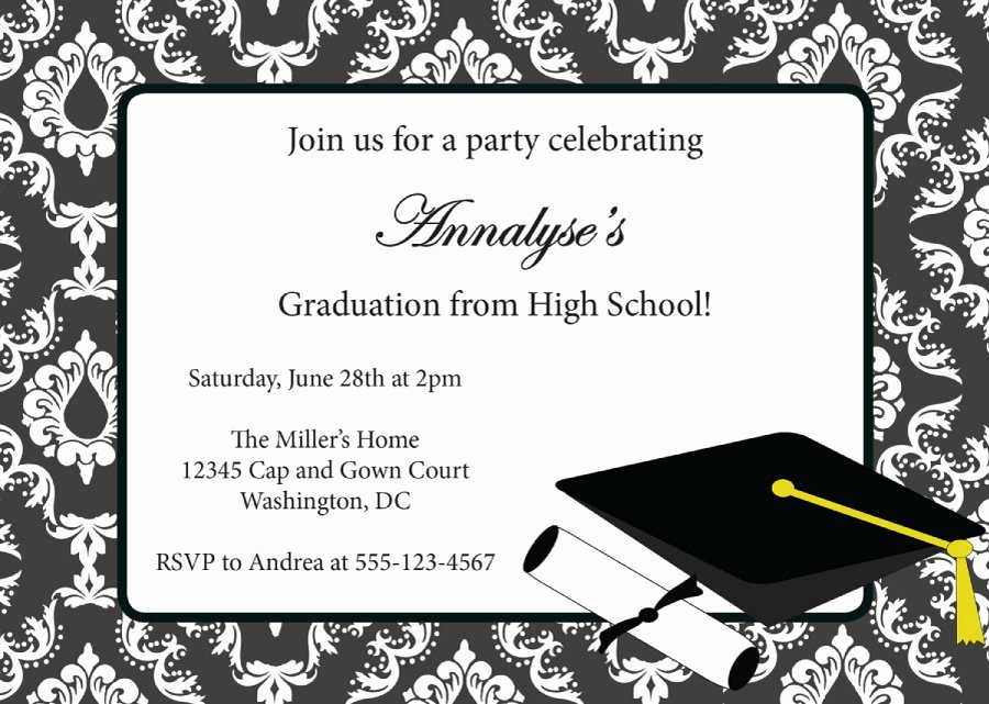 Graduation Card Template Word Awesome 40 Free Graduation Invitation Templates Template Lab