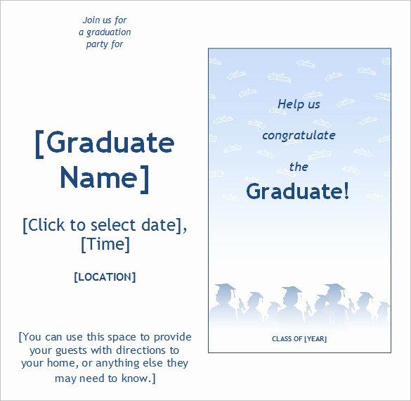Graduation Card Template Word Beautiful 50 Microsoft Invitation Templates Free Samples
