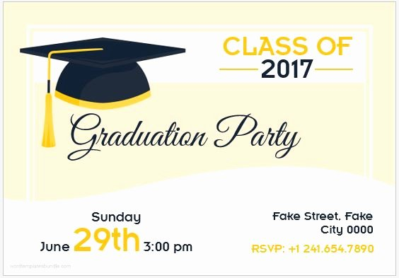 Graduation Card Template Word Best Of 10 Best Graduation Party Invitation Card Templates Ms Word