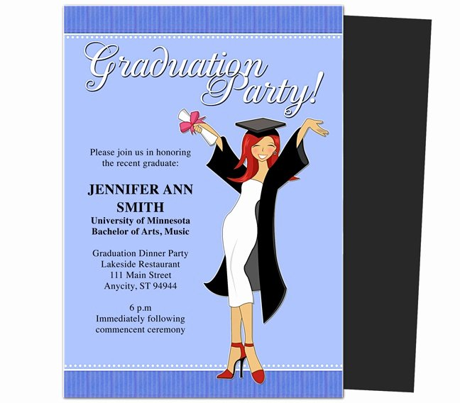 Graduation Card Template Word Best Of Graduation Party Invitations Templates Mencement