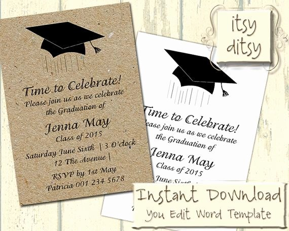 Graduation Card Template Word Fresh 17 Best Ideas About Graduation Invitation Wording On