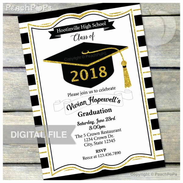 Graduation Card Template Word Lovely 11 High School Graduation Invitation Designs & Templates
