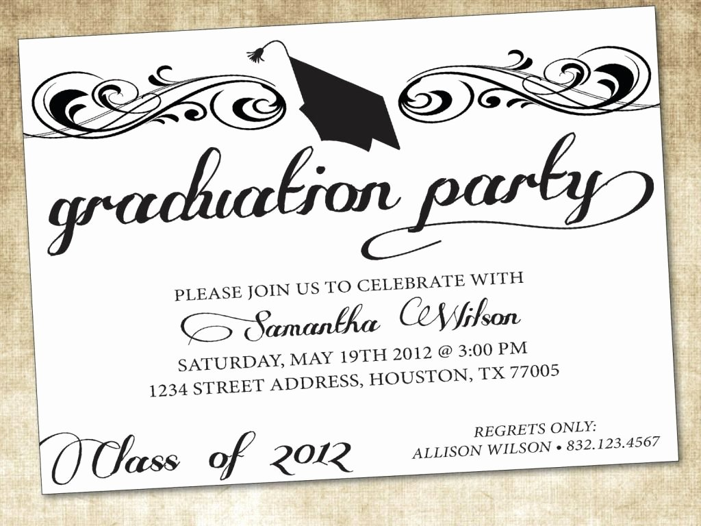 Graduation Card Template Word Luxury Graduation Invitation Template Word Cobypic