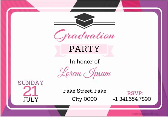 Graduation Card Template Word Unique 10 Best Graduation Party Invitation Card Templates Ms Word