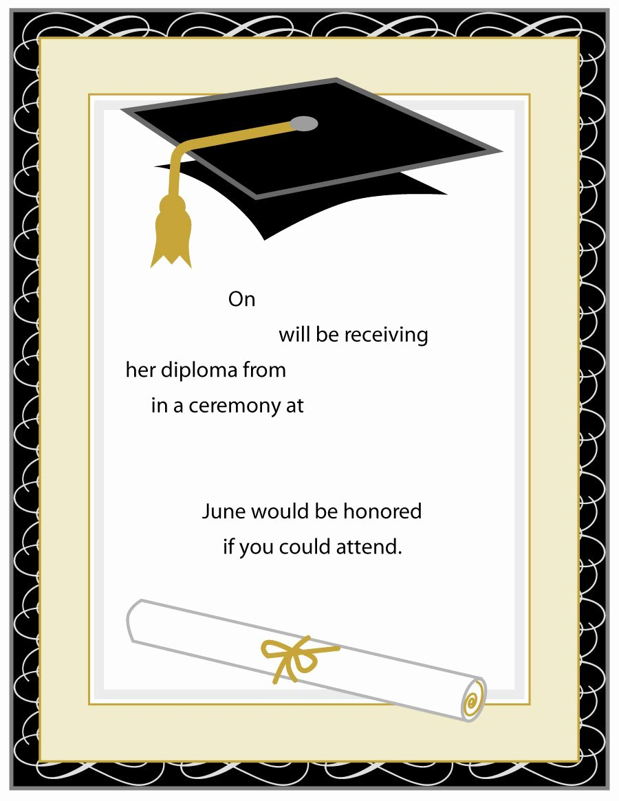 Graduation Card Template Word Unique 40 Free Graduation Invitation Templates Template Lab