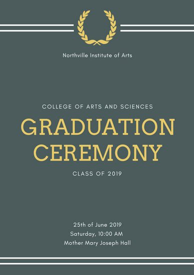 Graduation Ceremony Agenda Beautiful Customize 132 Graduation Program Templates Online Canva