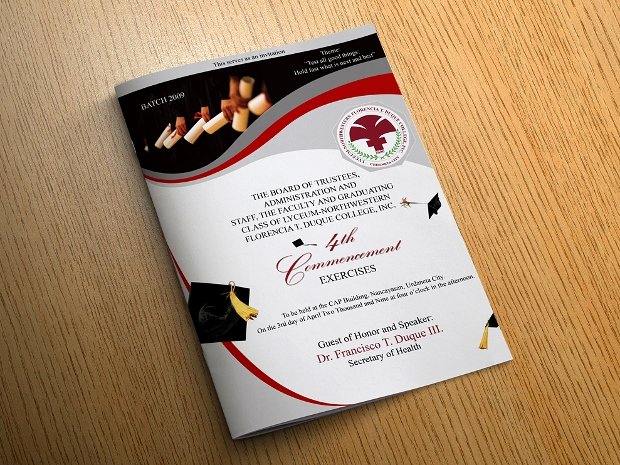 Graduation Ceremony Agenda Luxury 17 Graduation Brochures Free Psd Ai Indesign Vector