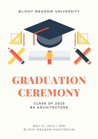 Graduation Ceremony Agenda Luxury Customize 132 Graduation Program Templates Online Canva