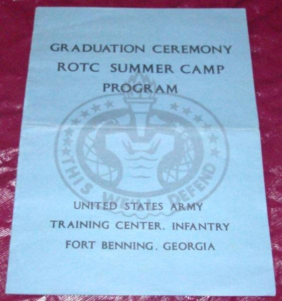 Graduation Ceremony Agenda Luxury Graduation Ceremony Rotc Program fort Benning Ga 1968