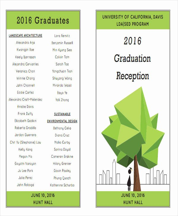 Graduation Ceremony Agenda New 7 Graduation Program Templates Pdf Word