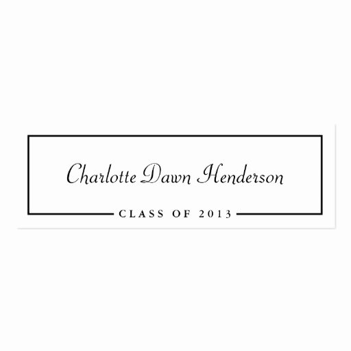 Graduation Name Cards Template Elegant Graduation Announcement Name Card Border Class Of Pack