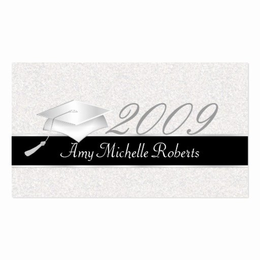 Graduation Name Cards Template Lovely High School Graduation Name Cards 2009 Business Card