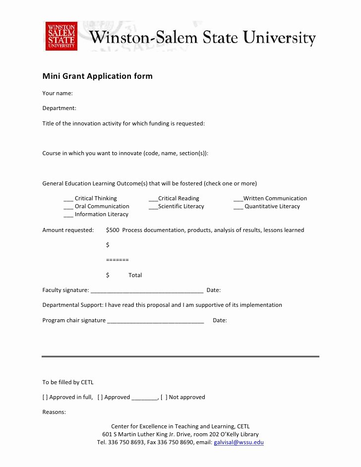 Grant Application form Template Awesome Mini Grant Initiative Application form