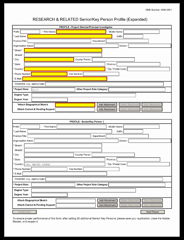 Grant Application form Template New 22 Of Human In Profile Template
