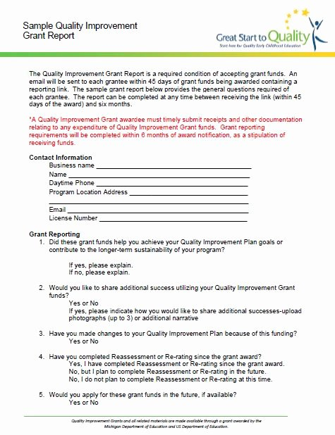 Grant Report Sample Awesome Documents & Resources Page 3