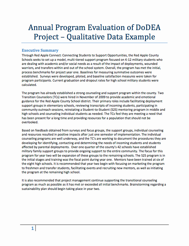 Grant Report Sample Beautiful Evaluation Resources