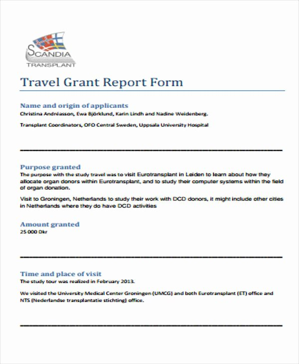 Grant Report Sample Fresh 6 Grant Report Templates Free Word Pdf format Download