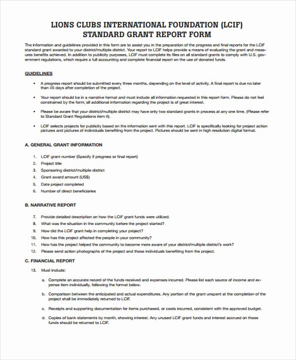 Grant Report Sample Lovely 37 Report Templates In Pdf