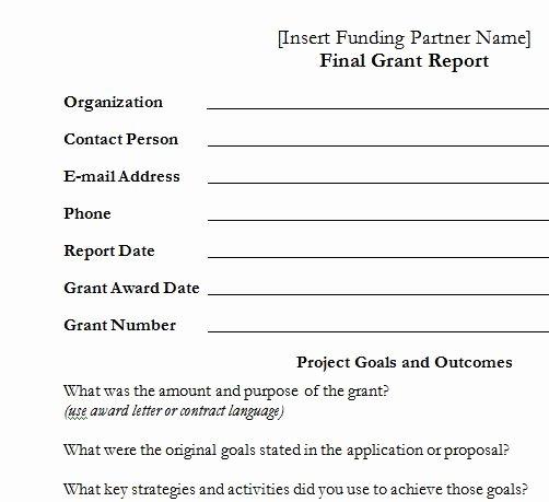 Grant Report Sample Lovely Final Grant Report – Template – Upward Development
