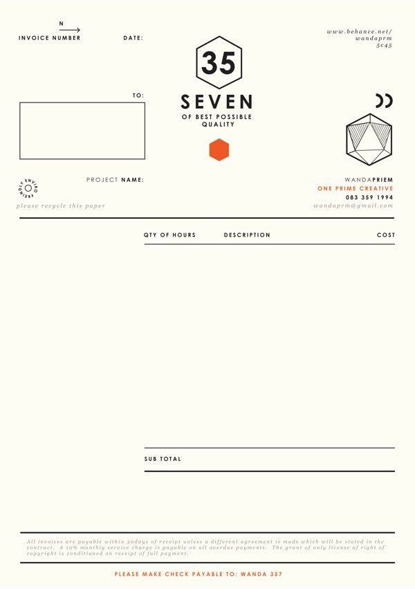 Graphic Design Invoice Examples Best Of 25 Best Ideas About Invoice Design On Pinterest