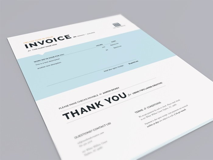 Graphic Design Invoice Examples Fresh 50 Creative Invoice Designs for Your Inspiration Hongkiat