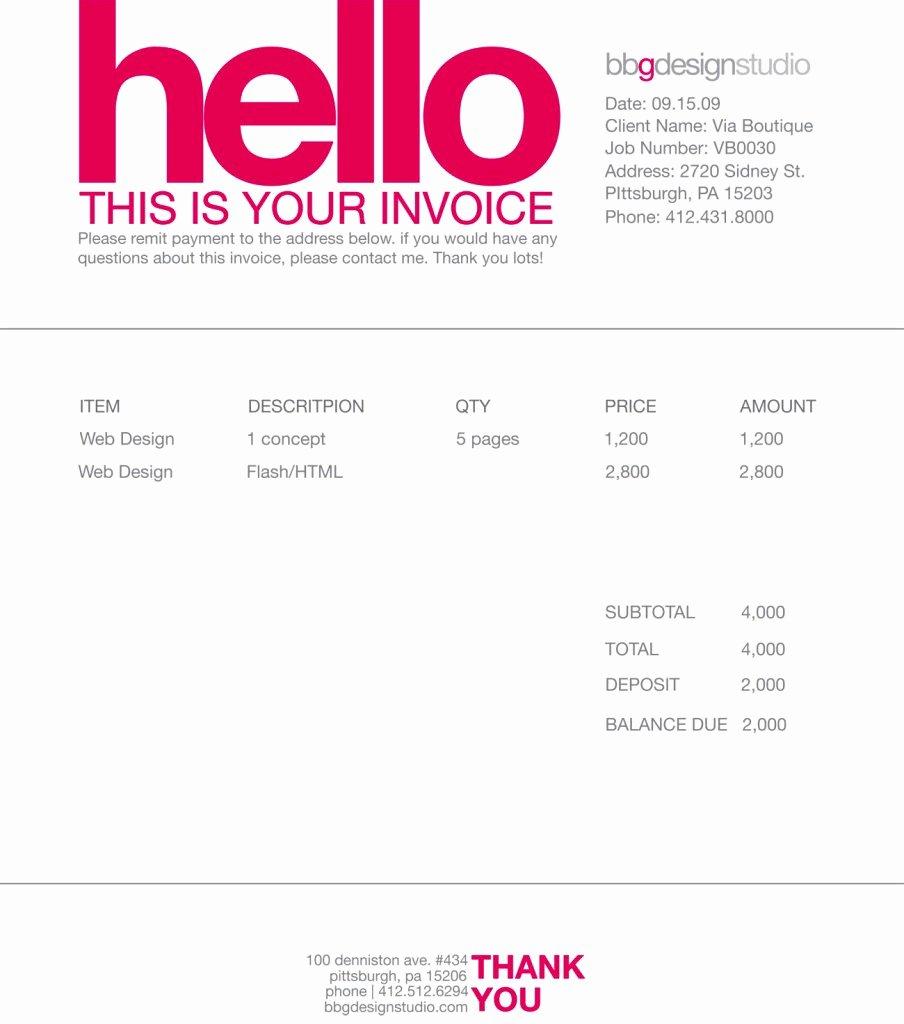 Graphic Design Invoice Examples Fresh Contoh Faktur Invoice Tagihan Dengan Desain Menarik