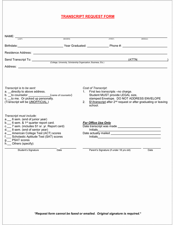 Graphic Design Request form Template Best Of 6 Printable Transcript Request Templates