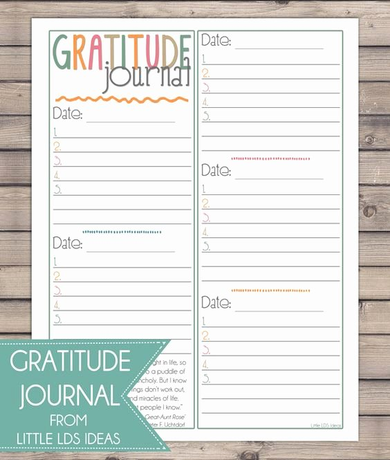 Gratitude Journal Template Free Beautiful Choose Happiness and to Help You Do that Print Out This