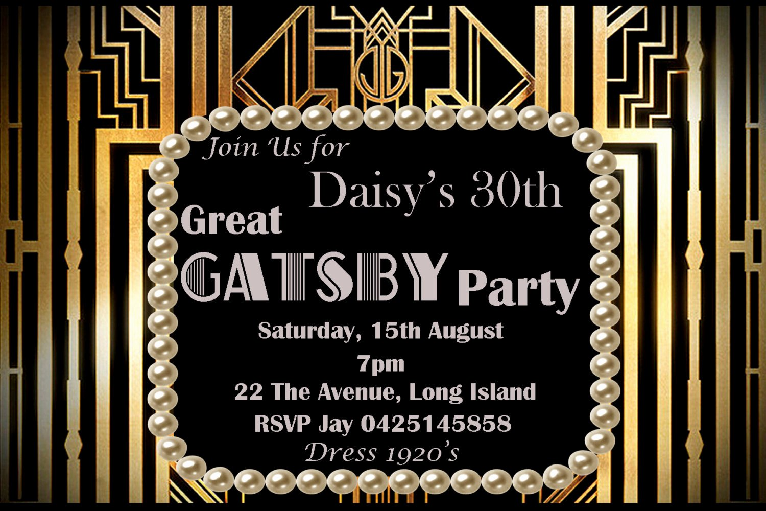 Great Gatsby Party Invitation Template Free Awesome the Great Gatsby Party Invitation Eyerunforpob