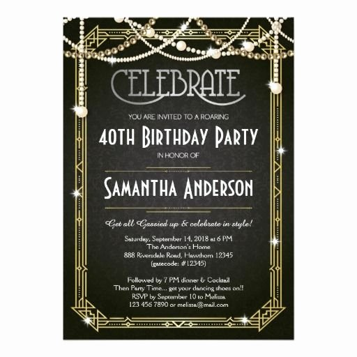 Great Gatsby Party Invitation Template Free Elegant 25 Best Ideas About Great Gatsby Invitation On Pinterest