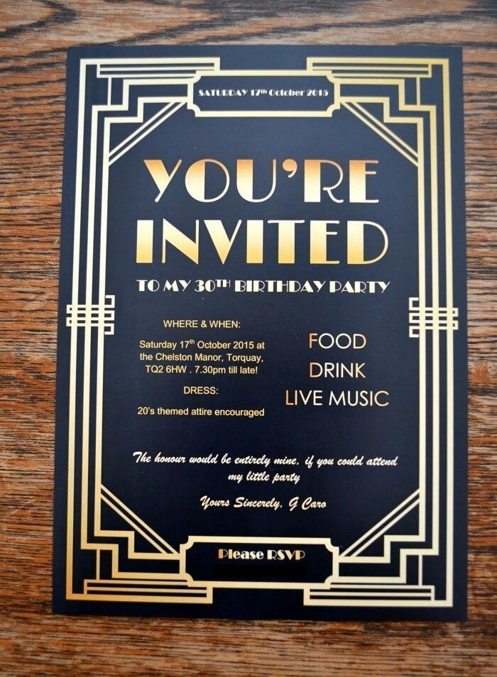 Great Gatsby Party Invitation Template Free Fresh Gatsby Party Invites Gypsy soul