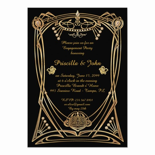 Great Gatsby Party Invitation Template Free Inspirational Personalized Great Gatsby Party Invitations