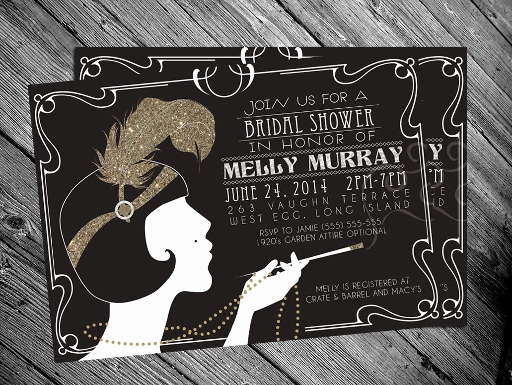Great Gatsby Party Invitation Template Free Unique Great Gatsby Invitation Templates Blank