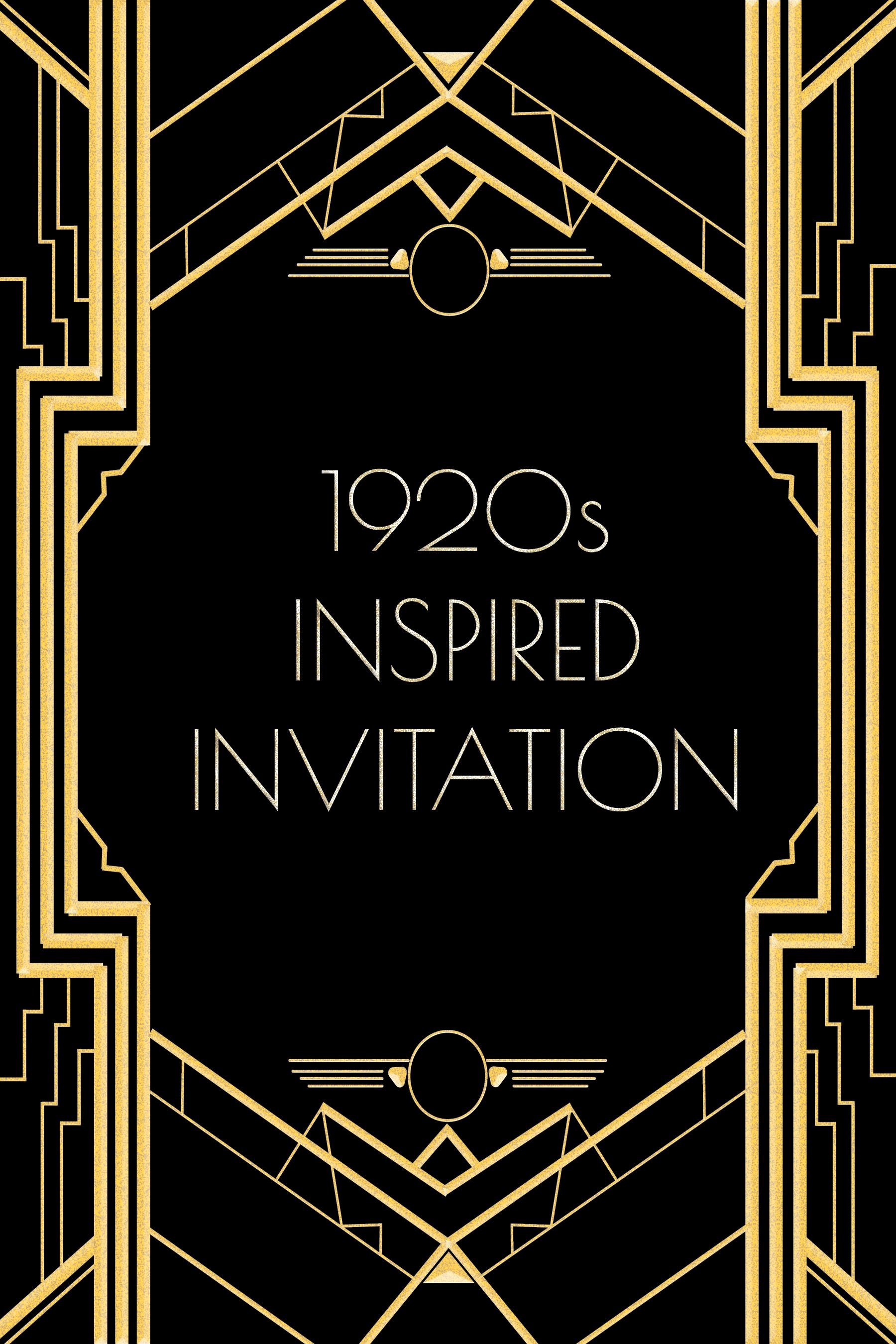 Great Gatsby Party Invitation Template Free Unique Use This 1920s Inspired Invitation Template for A Gatsby