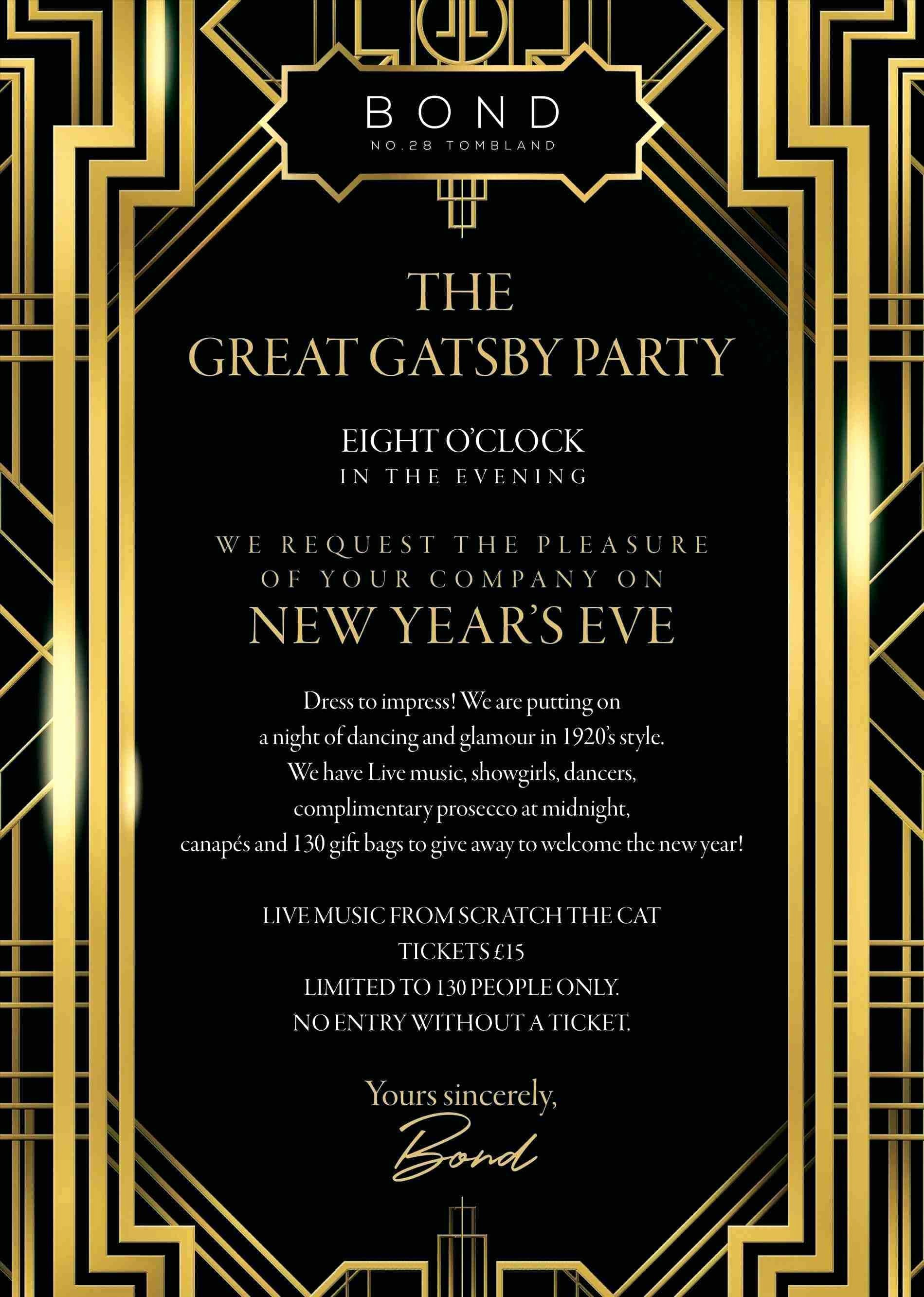Great Gatsby Party Invitation Templates Beautiful Great Gatsby Party Invitation Template Free