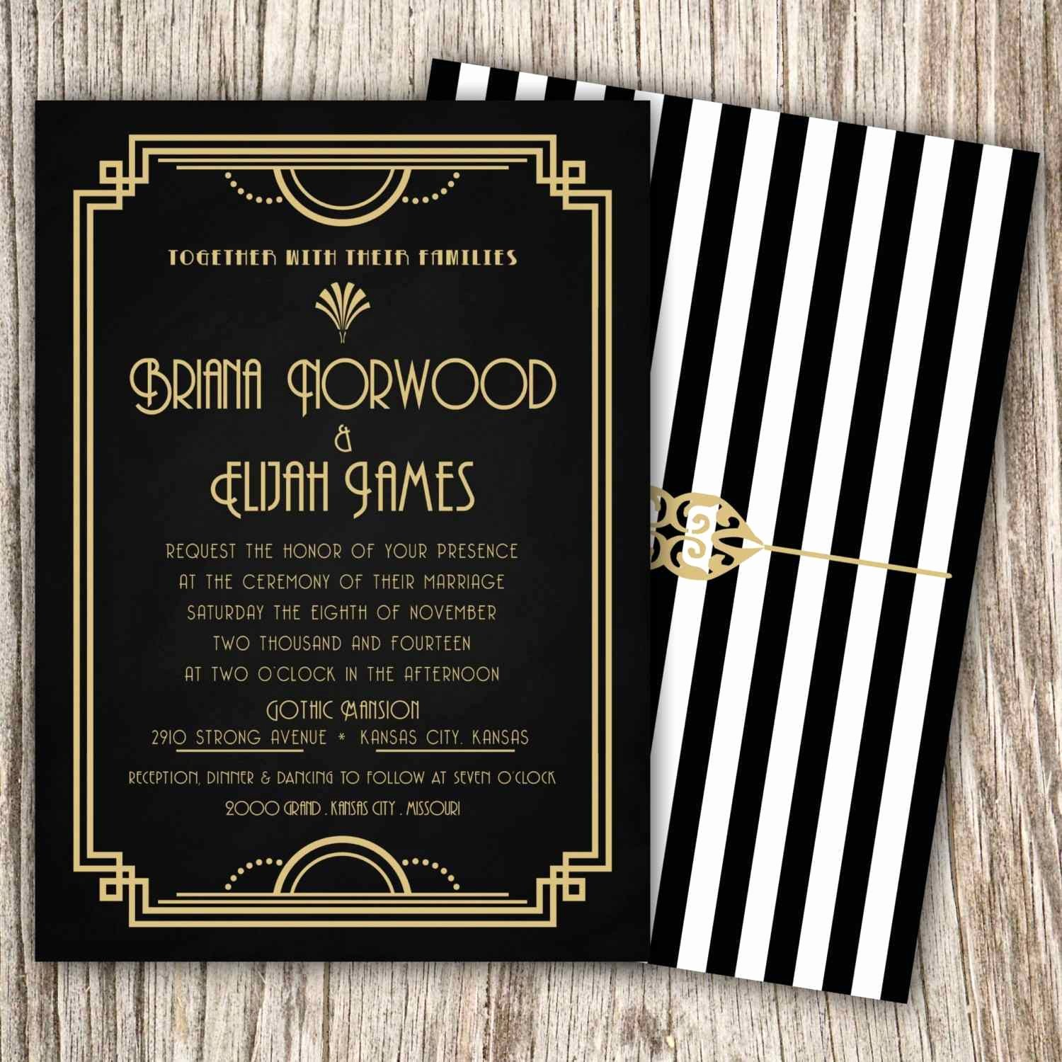 Great Gatsby Party Invitation Templates Elegant 33 Gatsby Border Template New Templates
