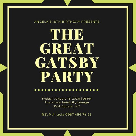 Great Gatsby Party Invitation Templates Luxury Customize 204 Great Gatsby Invitation Templates Online