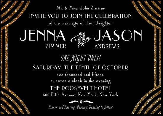 Great Gatsby Prom Invitations Awesome Beautiful Invitation for A Great Gatsby theme Wedding