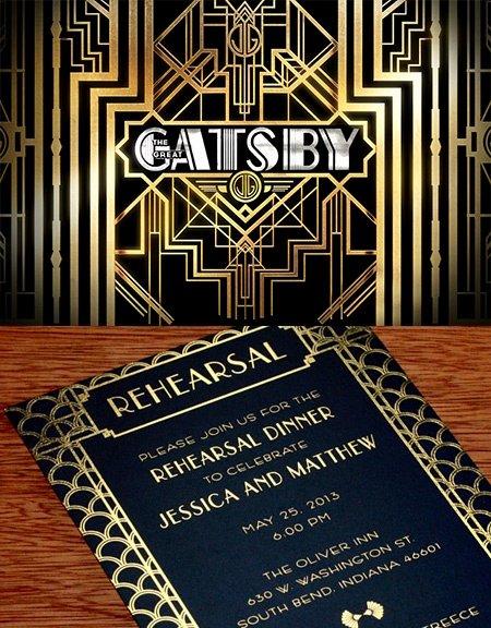 Great Gatsby Prom Invitations Beautiful Great Gatsby Inspired Wedding Invitation Design